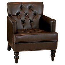 Malone Leather Chair in Brown