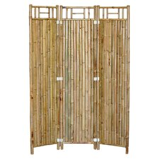 Bamboo 3 Panel Room Divider in Natural