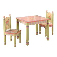Magic Garden 3 Piece Table & Chair Set in Pink
