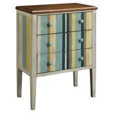 Lefkada 3 Drawer Chest in Blue Stripe