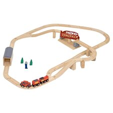 Swivel Bridge Train Set in Natural