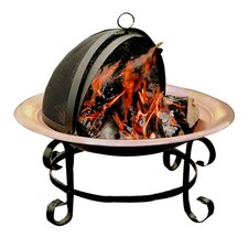 Copper 2 Piece Fire Pit & Guard Set in Black