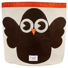 Owl Storage Bin in Beige
