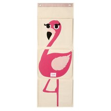 Flamingo Wall Toy Organizer in Beige
