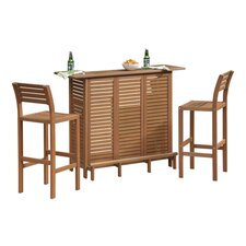 Montego Bay 3 Piece Bar Set in Eucalyptus