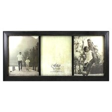 Rustic Triple Photo Frame in Black