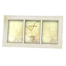 Longwood Triple Photo Frame in White