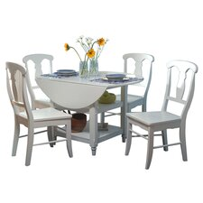 Cottage 5 Piece Dining Set in White