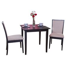 Quebec 3 Piece Dining Set in Black