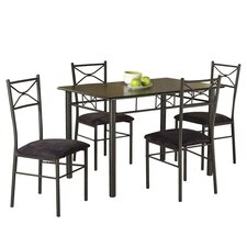 Valencia 5 Piece Dining Set in Black