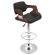 Fiore Adjustable Barstool in Cherry & Black