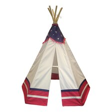 American Teepee in Red & White