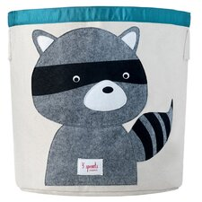 Racoon Storage Bin in Grey & Black