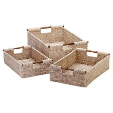3 Piece Nesting Basket Set in Natural
