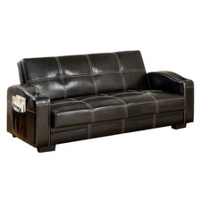 Clifton Storage Sleeper Sofa in Black