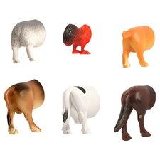 6-Piece Farm Animal Butt Magnet Set