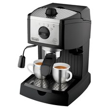 Pump Espresso Maker in Black & Silver