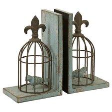 Birdcage Bookend in Bronze