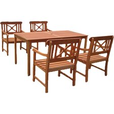 Balthazar 5 Piece Dining Set in Natural
