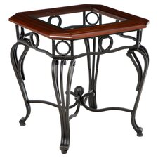 Troy End Table in Dark Cherry
