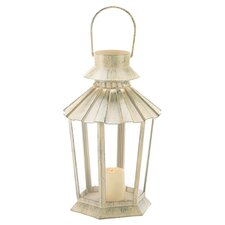 Weatherkissed Candle Lantern in Ivory