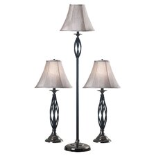 Annie 3 Piece Lamp Set in Bronze