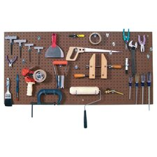 Pegboard & Durahook Set in Brown