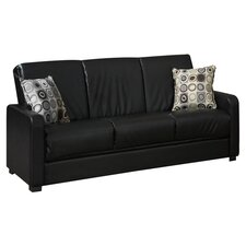 Tahoe Convertible Sleeper Sofa in Black