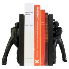 Leaning Ladies Bookend in Black