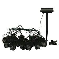 San Rafael 20 Light Lantern String Light in Black