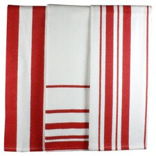 Dish Towel Set in Punch Stripe