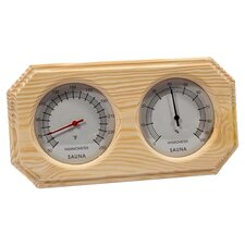 Deluxe Wood Thermometer & Hygrometer in Oak