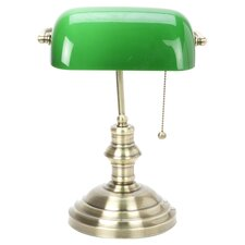 Classic Banker Desk Lamp in Antique Brass
