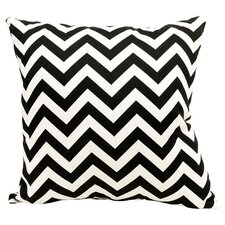 Chevron Throw Pillow in Black
