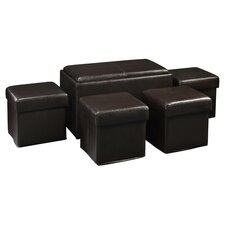 Designs 4 Comfort Storage Bench & Ottoman Set in Brown