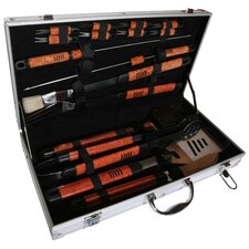 Pushette Professional 16 Piece BBQ Tool Set in Stainless Steel