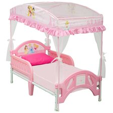 Disney Princess Canopy Toddler Bed in Pink
