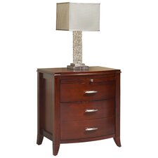 Brighton 3 Drawer Nightstand in Cinnamon
