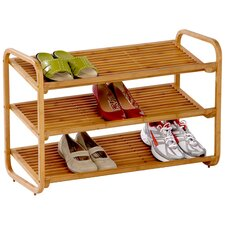 Deluxe Shoe Rack in Bamboo