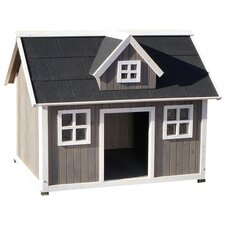 Colonial Manor Dog House in Gray
