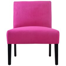 Nate Upholstered Slipper Chair in Magenta