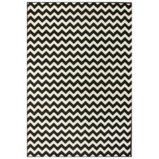 "Kinder Chevron Ivory & Black 7'10"" x 10'10"" Rug"