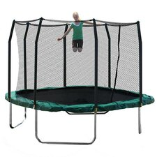 Garfield 11' Square Trampoline & Enclosure Set in Green