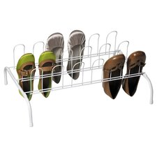Floor Shoe Rack in White
