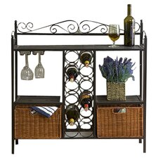 Scout Scrolled Bistro Server in Gunmetal