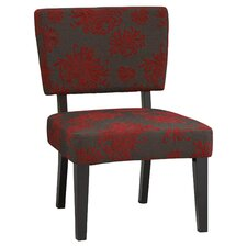 Taylor Slipper Chair in Grey & Red