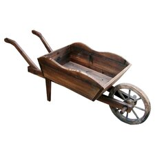 Wheel Barrow Planter in Natural
