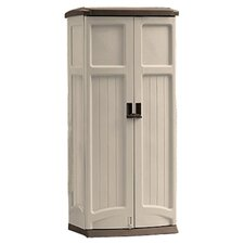 Vertical Tool Storage Shed in Light Taupe