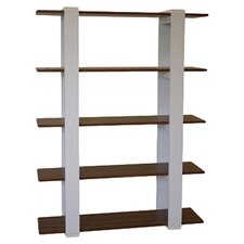 Aimee Bookshelf in Walnut & White