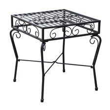 Tropico Outdoor Patio Side Table in Black